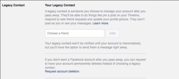 Set Your Facebook Account to Delete or Memorialize You Upon Your Death