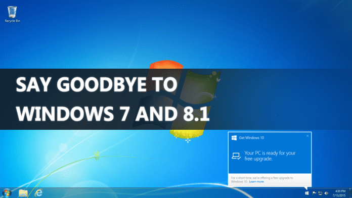 End Of An Era Say Goodbye To New Windows 7 And 8.1 PCs