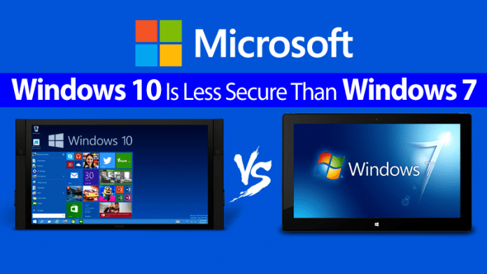 CERT warning: Windows 10 Is Less Secure Than Windows 7