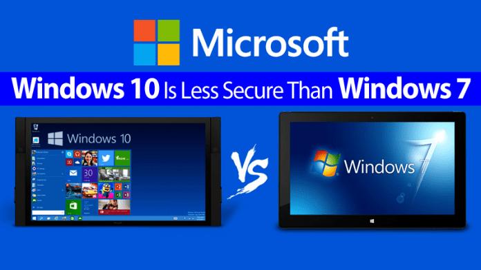 CERT warning: Windows 10 Is Less Secure Than Windows 7