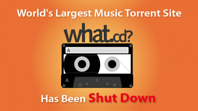 World's Largest Music Torrent Website Has Been Shut Down