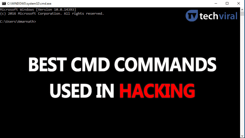 Top 10 Best CMD Commands Used In Hacking 2019