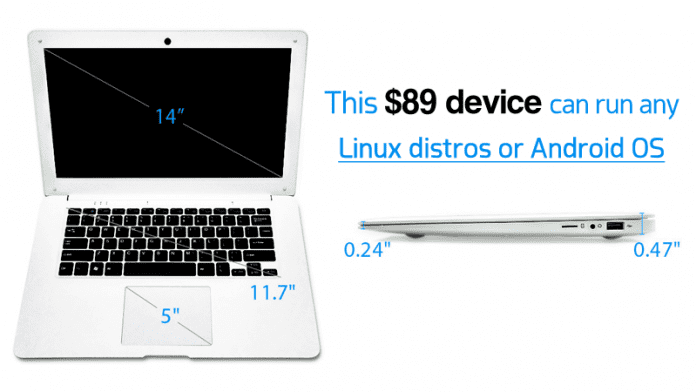 Meet Pinebook, A $89 Linux Laptop That Looks Like MacBook