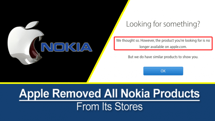 Apple Removed All Nokia Products From Its Stores