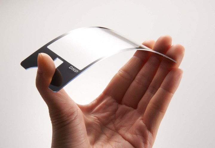 Curved Plastic OLED Screen