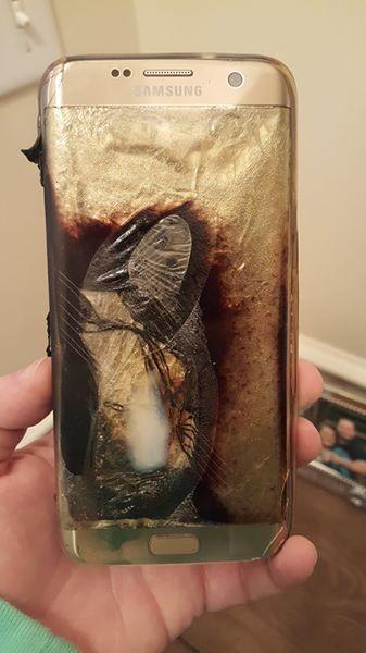 Samsung Galaxy S7 Edge Explodes On Woman's Desk