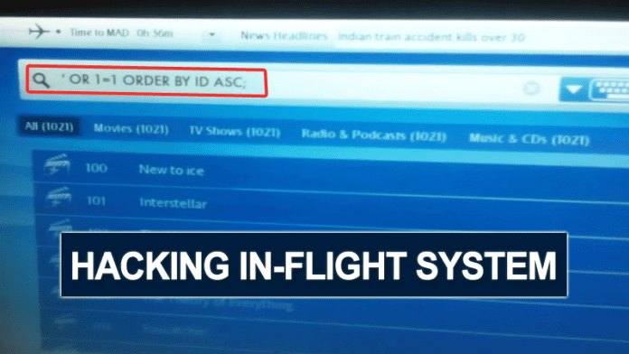 Hacker Shows How Easy In-flight Entertainment System Can Be Hacked