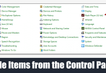 How to Hide Items from the Control Panel in Windows