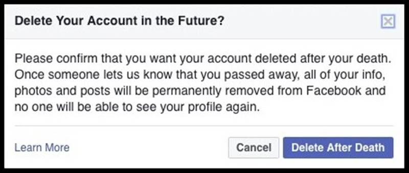 How to Set Your Facebook Account to Delete or Memorialize You Upon Your Death