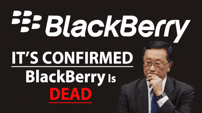 It's official, BlackBerry Is Dead