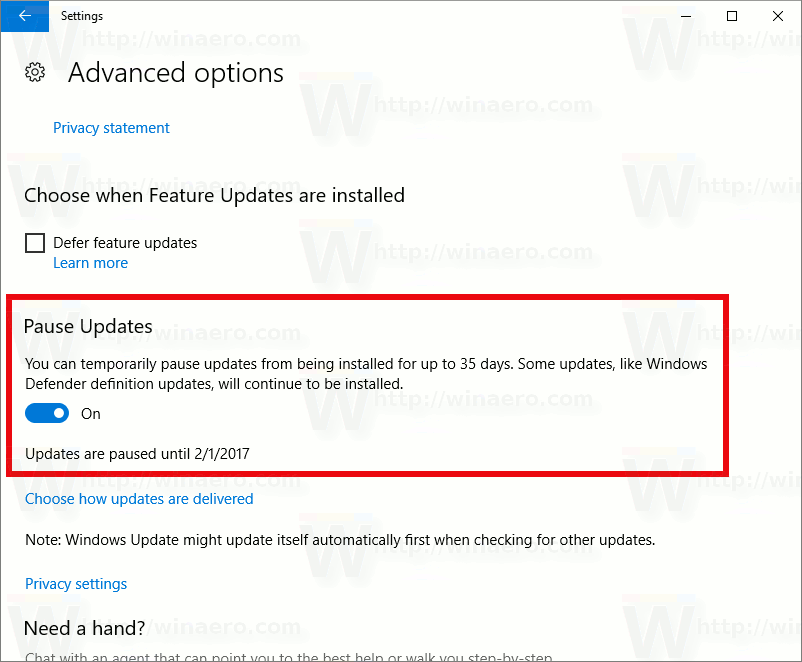 Kill Windows 10 Auto Update