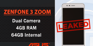 Leaked Images Of Asus ZenFone 3 Zoom Showcase An iPhone 7 Plus-like Dual Camera Setup