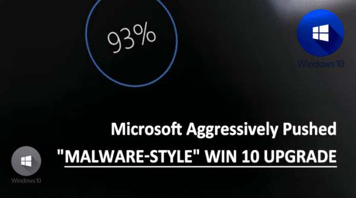 Microsoft Admits, They Aggressively Pushed