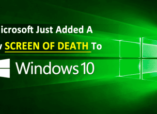 Microsoft Just Added A New Screen Of Death To Windows 10