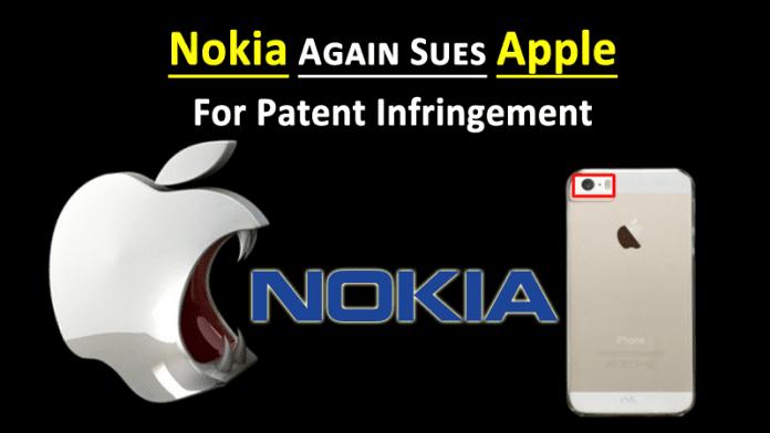 Nokia Again Sues Apple For Patent Infringement