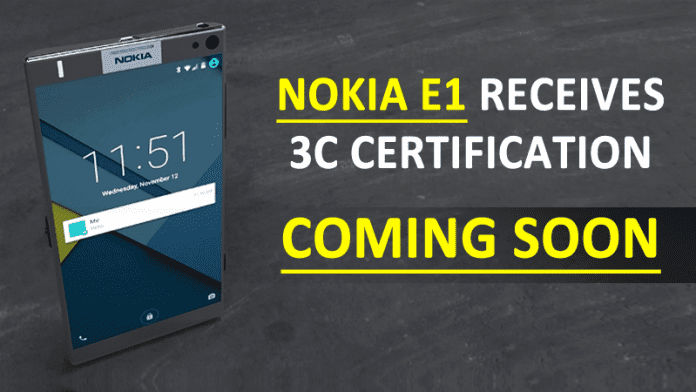 Nokia E1 Receives 3C Certification, Coming Soon