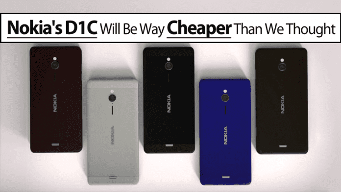 Nokia's D1C Android Smartphone Will Be Way Cheaper Than We Thought