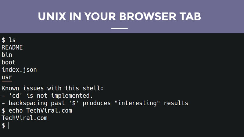 Now You Can Run Unix-like Operating System In Your Browser