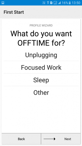Using Offtime