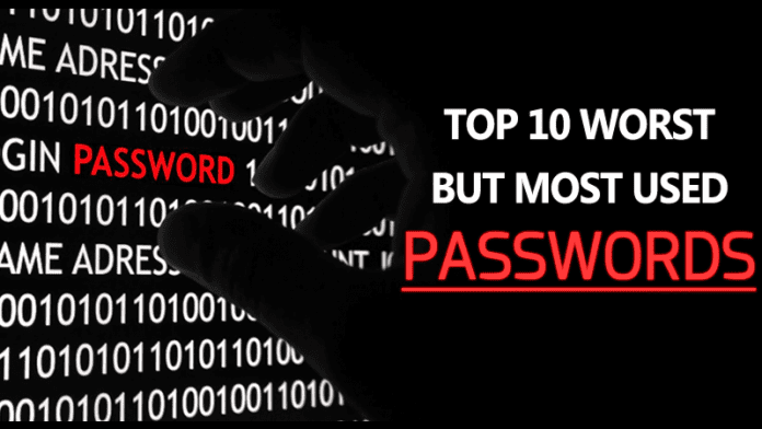 Here Are The Top 10 Worst, But Most Used Passwords