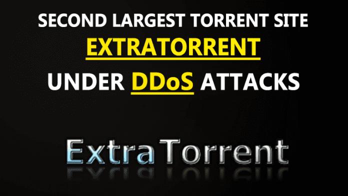 Popular Torrent Site ExtraTorrent Under DDoS Attacks