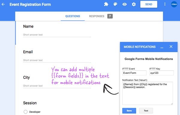 Recieve Notifications for Google Forms on Your Mobile Phone