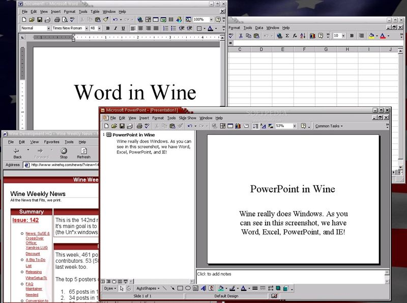 wine microsoft office