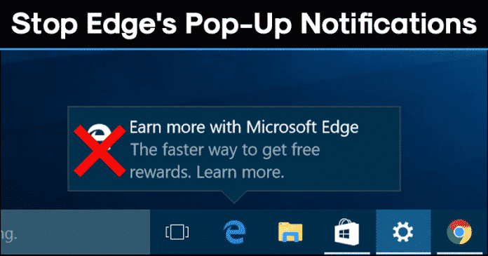 How to Stop Microsoft Edge's Pop-up Notifications