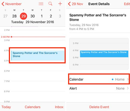 Stop iCloud Calendar Spam Invites