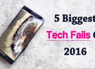 Top 5 Biggest Tech Fails Of 2016