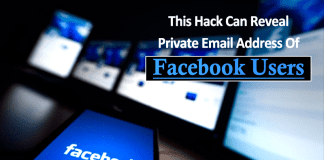 This Hack Can Reveal Private Email Address Of Any Facebook User