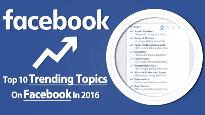 Top 10 Trending Topics On Facebook In 2016