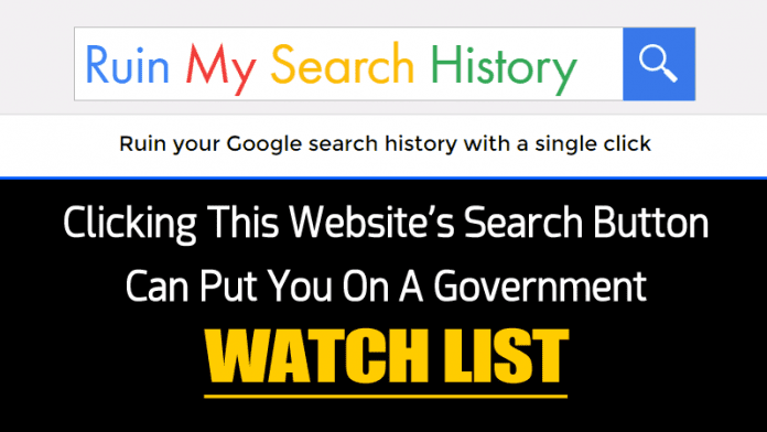 Clicking This Search Button Can Put You On A Govt. Watch List