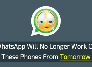 WhatsApp Will No Longer Work On These Phones From Tomorrow