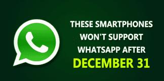 WhatsApp Will No Longer Work On These Phones