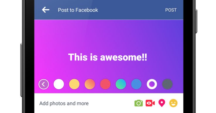 Here's How To Use Facebook's New Color Status Feature