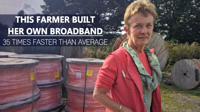 Meet The Farmer Who Built Her Own Broadband, 35 Times Faster Than Average