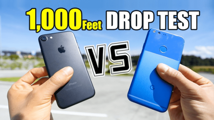 Extreme Drop Test: Google Pixel Vs iPhone 7 From 1,000 Feet In The Air