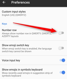 Add Persistent Number Row to the Android's Gboard Keyboard