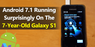Android 7.1 Nougat Running Surprisingly On The 7-Year-Old Galaxy S1