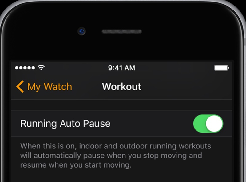 Automatically Pause Running Workouts on the Apple Watch