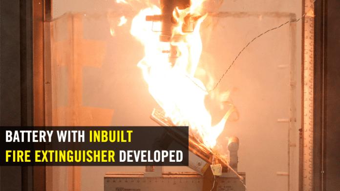 Researchers Developed Li-Ion Battery With Inbuilt Fire Extinguisher