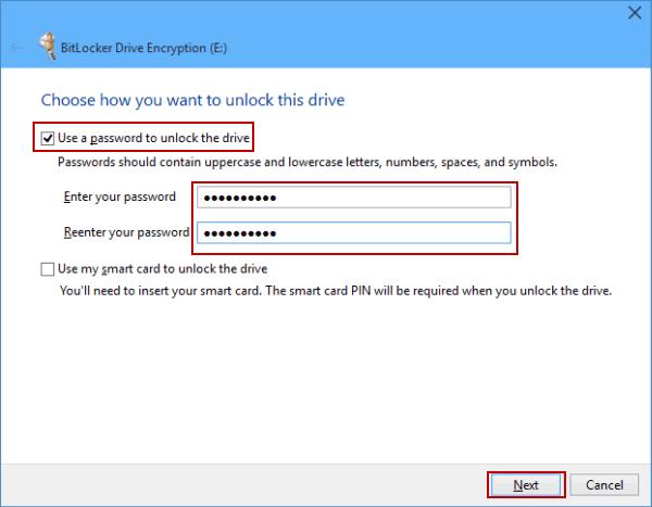 Using BitLocker