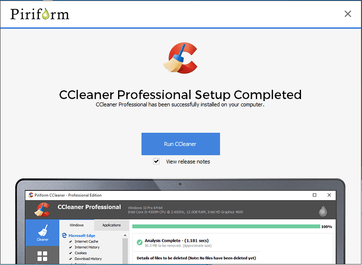Using CCleaner