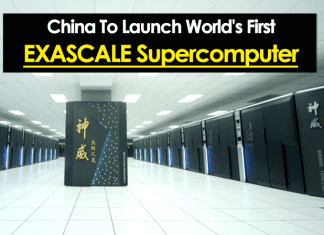 China To Launch World's First 'Exascale Supercomputer'
