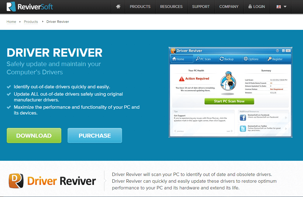 Driver Reviver - driver update software free