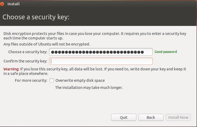 Encrypt Your Hard Disk in Ubuntu