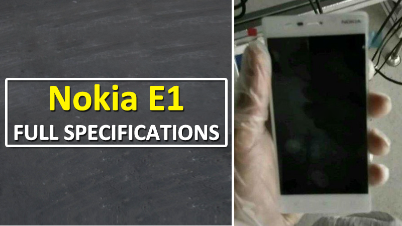 Nokia E1: Full Phone Specifications Appears Online