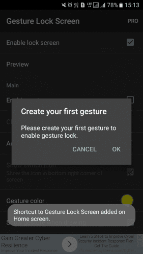 Gesture Lock Screen From Studio Mobile