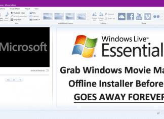 Grab Windows Movie Maker Offline Installer Before It Goes Away Forever